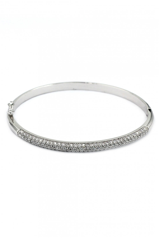 Fashion micro-small crystal silver bracelet