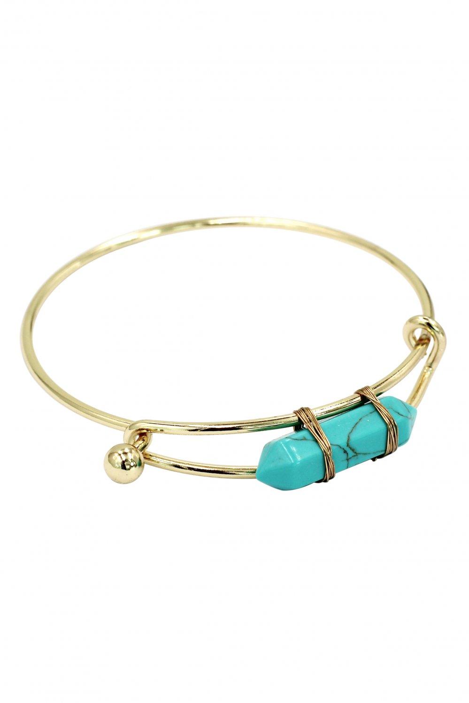 Fashion green crystal golden bracelet