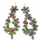Sparkling Multiple crystal silver earrings