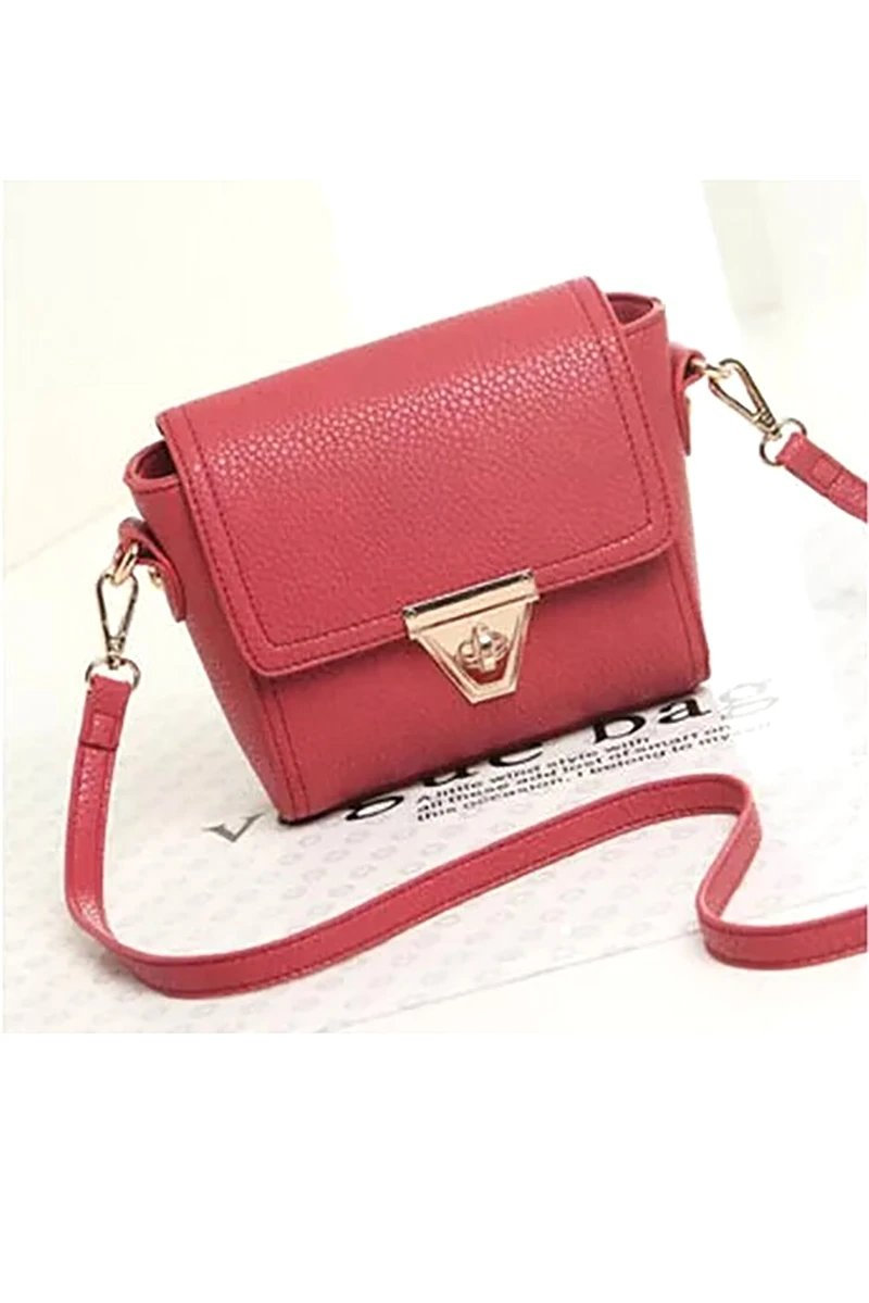 Lovely red sweet pebble leather handbag