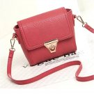 Lovely red sweet pebble leather handbag