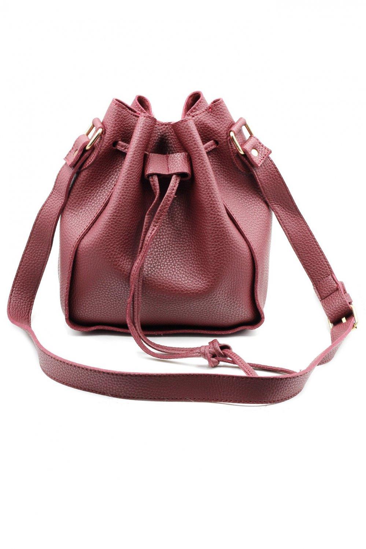 Fashion red buckets leather handbags
