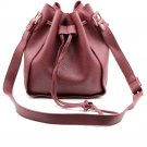 Fashion red buckets leather handbags