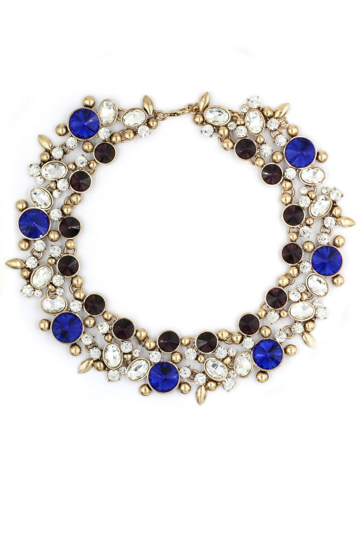 Elegant full blue crystal necklace
