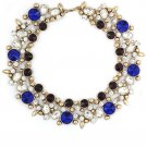 Elegant full blue crystal necklace