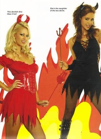 Sexy Devil Womens Vinyl Halloween Costume