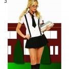 Business school girl plaid dress halloween costume