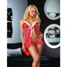 Sexy Love Coupon Christmas Babydoll sleepwear Lingerie