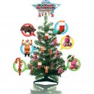 2 ft. tall xmas tree w/24 xxxmas ornaments