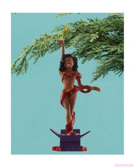 Sexy ornament that says UNWRAP ME