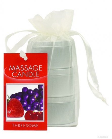 3 gift packaged Edible massage oil candles
