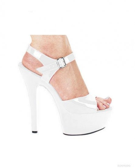 "Juliet By Ellie 6"" Pump 2"" Platform White Size 6"