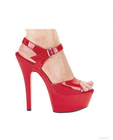 "Juliet By Ellie 6"" Pump 2"" Platform Red Size 9"