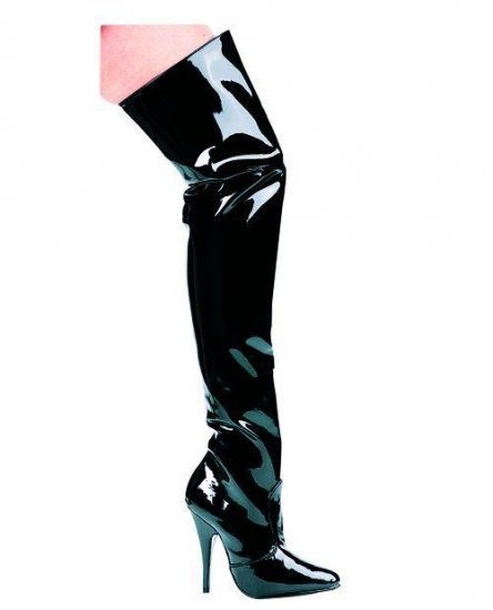 "The Susie Thigh-High Boot  5"" Heel Size 10"