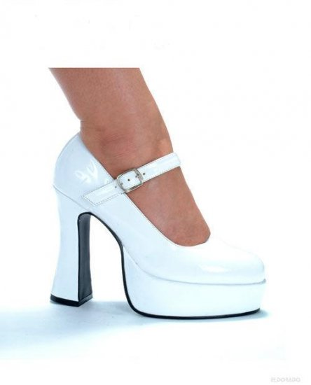 "Eden By Ellie 5"" Pump 1.5"" Platform White Size 10"