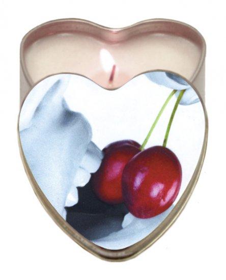 Suntouched hemp edible candle - 4 oz heart tin cherry