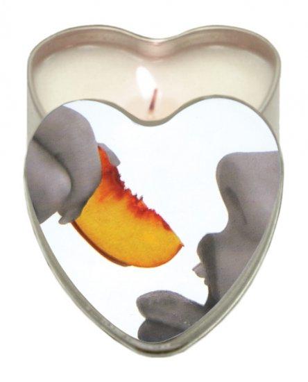 Suntouched hemp edible candle - 4 oz heart tin peach