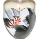 Suntouched hemp edible candle - 4 oz heart tin mint