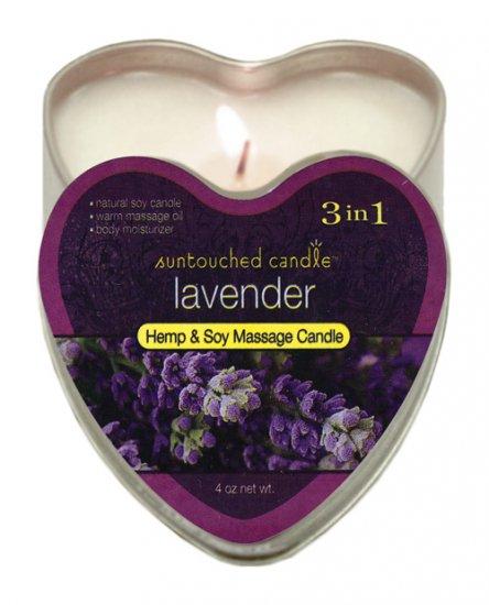 Suntouched hemp candle - 4 oz heart tin lavender