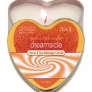 Suntouched hemp candle - 4 oz heart tin dreamsicle