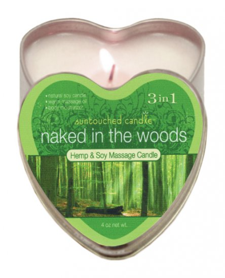 Suntouched hemp candle - 4 oz heart tin naked in the woods