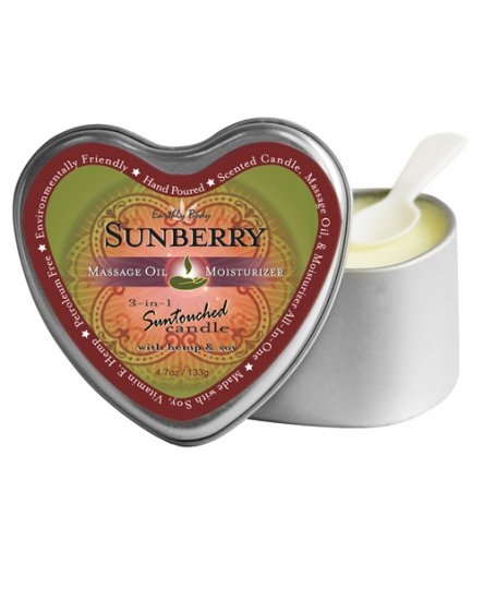 Suntouched hemp candle - 4 oz heart tin sunberry