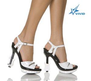 "5"" Platform Sandal W/Electric Guitar Shaped Heel Size 6"