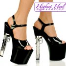7.5 inch Platform With 9mm Gun Shaped Heel Size 8