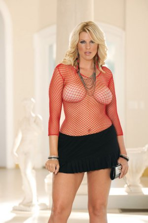 long sleeve fence net stretchy top in black white hot pink and red