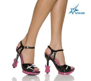 "5"" Platform Sandal W/Electric Guitar Shaped Heel Size 5"