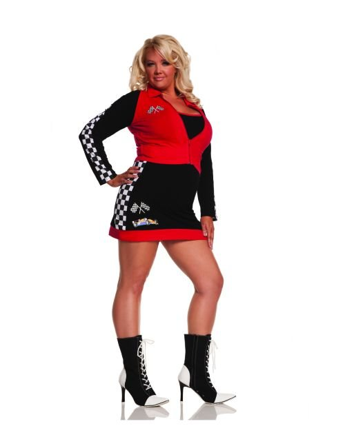 nascar one x two x queen plus zip up long sleeve jacket dress black red checkered flag print
