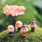 4pc Grandpa grandma Figure Fairy Garden Miniature Collectible Succulent Decor