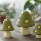 3pc Set  Spotted Mushroom Miniature Figure Fairy Garden Display Toy Home Decor