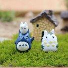 2pcs Snow My neighbor totoro Figure Cat Fairy Garden Accessories, Miniature  Toy