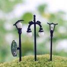 3PCS Mini Street lamp Fairy Garden Miniature Figure Decor Art Micro Landscape