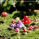 10 Random Mushroom Figure Fairy Garden Accessories, Miniature Fairies Dollhouse