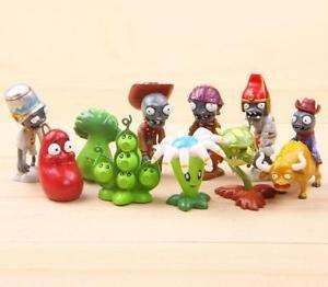 10pcs Set  Figurine Plants vs Zombies PVC Action Figures Collectibles Toys Game