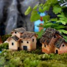 2x Fairy Garden Accessories Cottage House Figures Vintage Mini House Decor