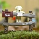 ZAKKA Post Fence Dog  Figurine Fairy Garden Accessories For Terrarium Succulent