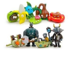 10pcs Set  Figurine Plants  Zombies PVC Action Figures Collectibles Toys Game H