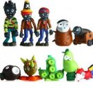 10pcs Set  Figurine Plants  Zombies PVC Action Figures Collectibles Toys Game I
