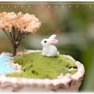 5pcs Rabbit Figure Fairy Garden Suppliers, Miniature Figurines, DIY Terrarium