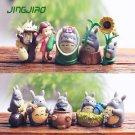 10pc Set My neighbor totoro Figure Toy Collectibles Fairy Garden Miniatures Deco