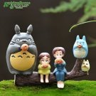 6pc Set My neighbor totoro Cat Girl Boy Figure Fairy Garden  Miniature Figurine