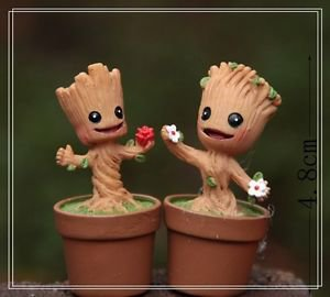 2XGalaxy Tree Elf Figure Fairy GardenCartoon Miniature Toy Succulent Moss Decor