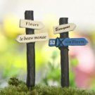 2X ZAKKA Guidepost Road Sign Mini Garden Fairy Figurine Gardening Suppliers