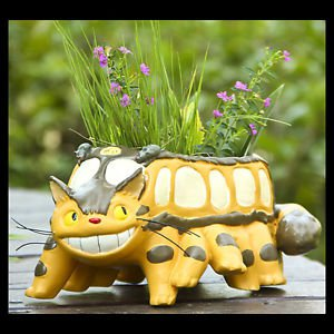 Totoro Car Bus Flowerpot Mini Figure Fairy Garden Succulent Container