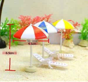 6pc Beach Chair Figurine Set Mini Toy Garden Decor For Terrarium Moss Suppliers
