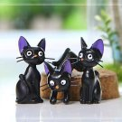 3pc Set Kiki Miyazaki Shun Black Cat Mini Figure Toys Fairy Garden Decor