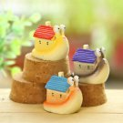 3pc Snail House Cottage Fairy Garden Accessories Miniature Dollhouse Moss Figure